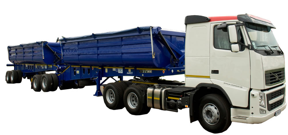 quality and affordable hydraulic system fitments on all trucks for side tippers