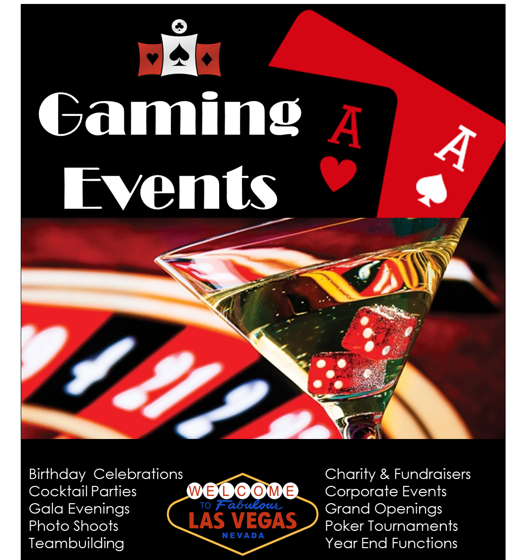 Gaming Events - Casino tables for Hire
