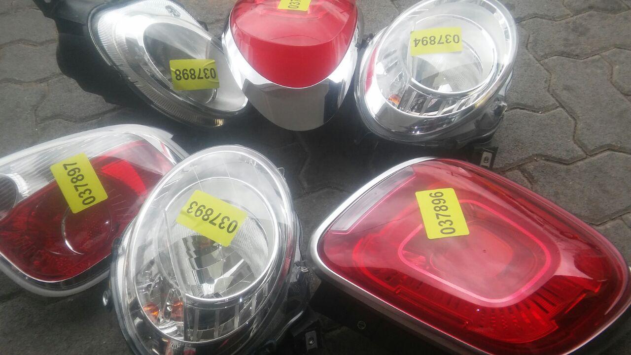 Fiat 500 headlights, spotlights, tail lights and Vw Golf 6 LED Tail lights