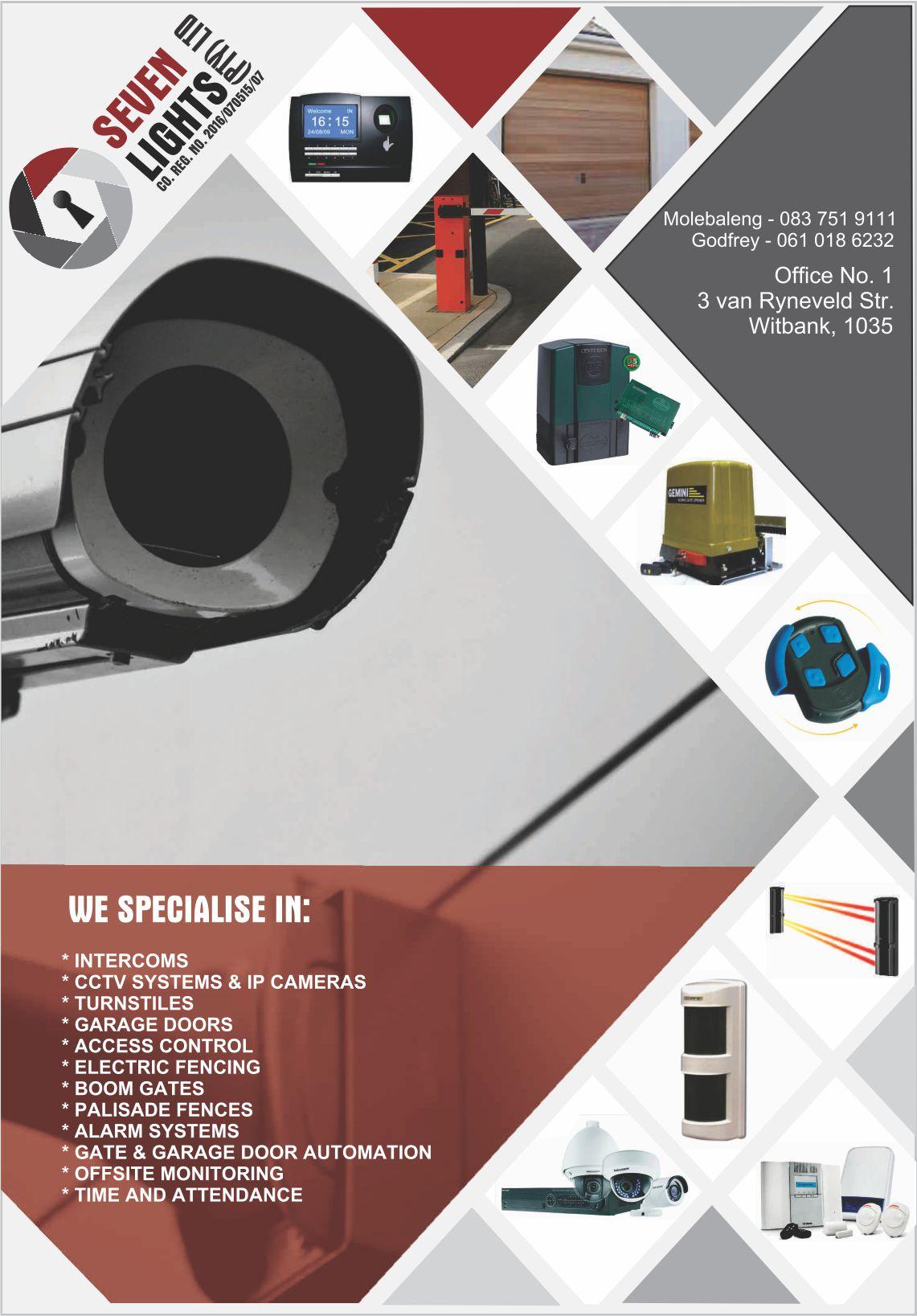 INSTALLATION OF CCTV, GATEMOTORS, GARAGE DOOR MOTORS, ALARM SYSTEMS, ELECTRIC FENCES & ACCESS CONTROL