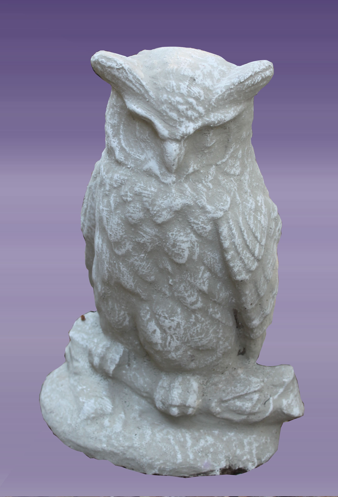 1AN021 Owl on Branch statue