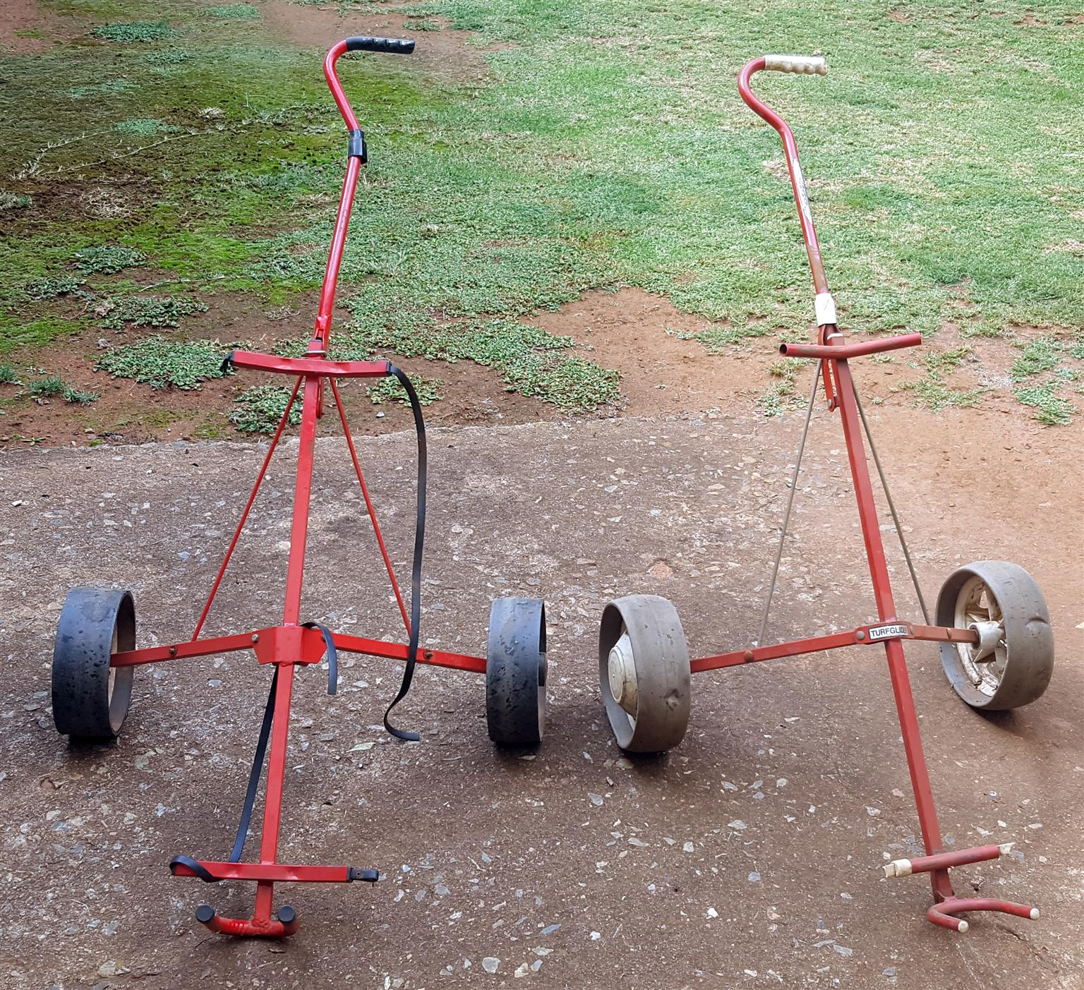 2 X golf bag trolleys