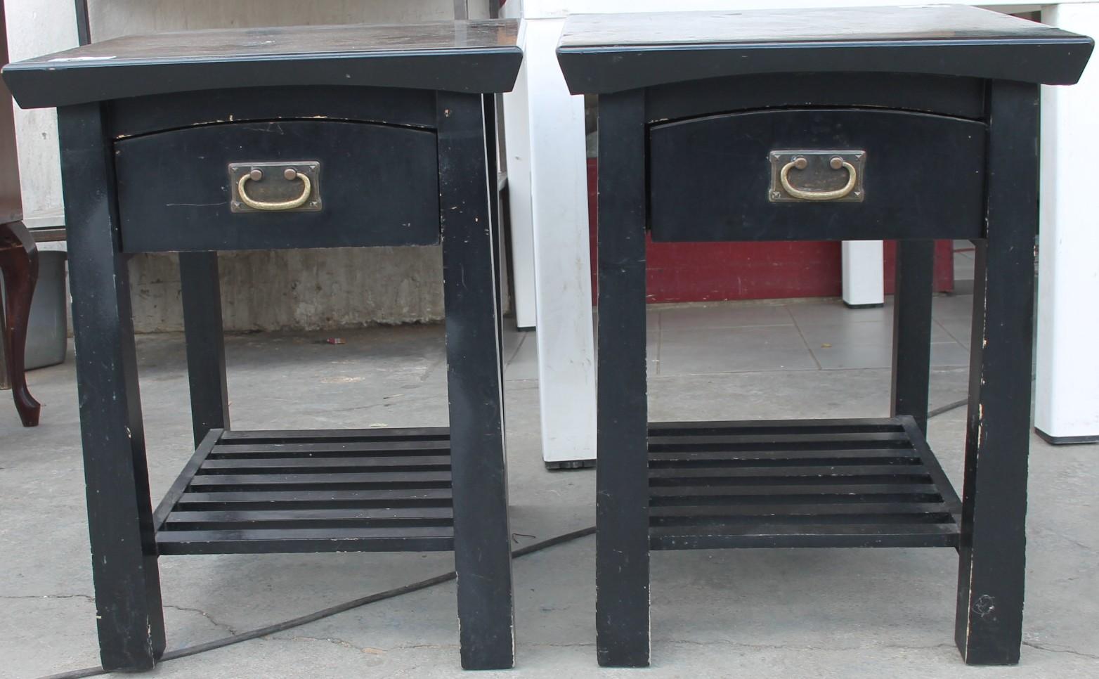 2x Black pedestals S027199a #Rosettenvillepawnshop