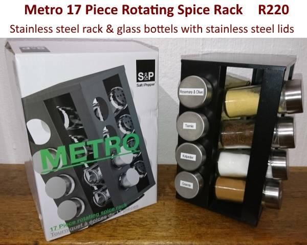 Metro 17 piece rotating spice rack