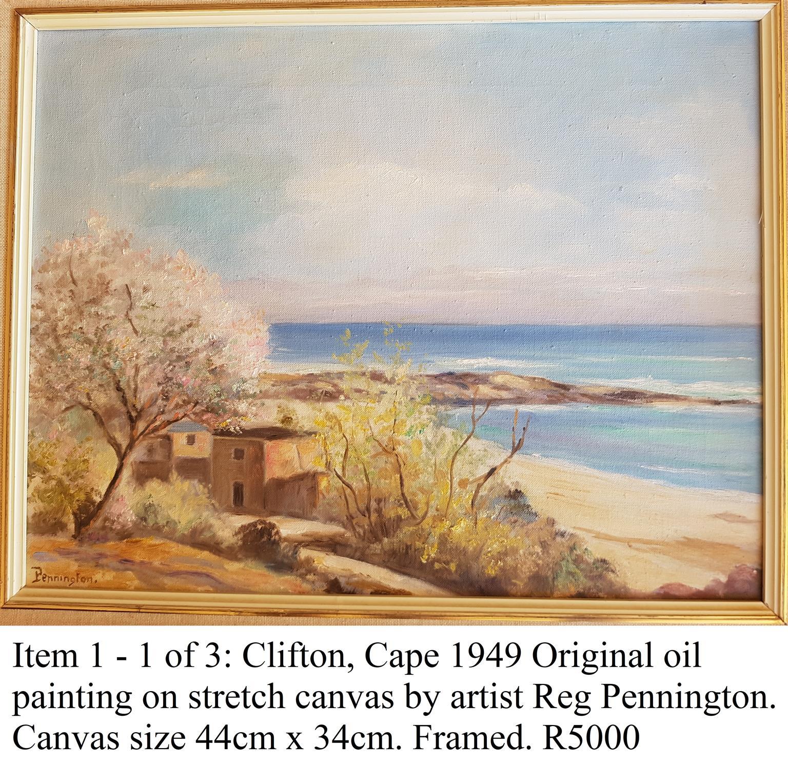 Original Oil by Reg Pennington 1949 Clifton Cafe