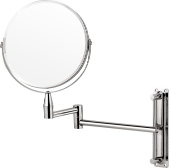 Chrome extendable wall mirror with normal and 3x magnification!! On Special!!!