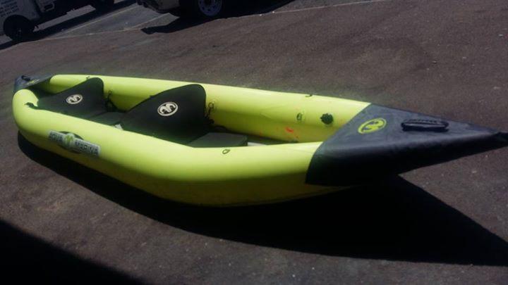 Aqua Marina 2 seater inflatable Kayak met spane