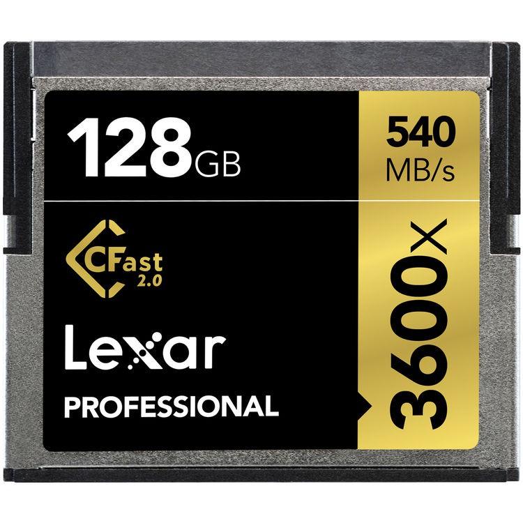 Lexar 128GB CFast 2.0 Professional 3600x 540mbs