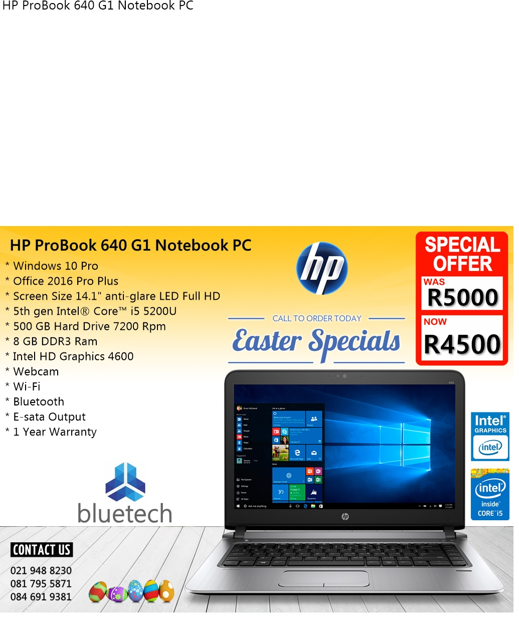 Demo Red Dell Inspiron 15 5000 series, Core i5, 1TB HHD, 1 Year Warranty,  Bluetech 0219488230