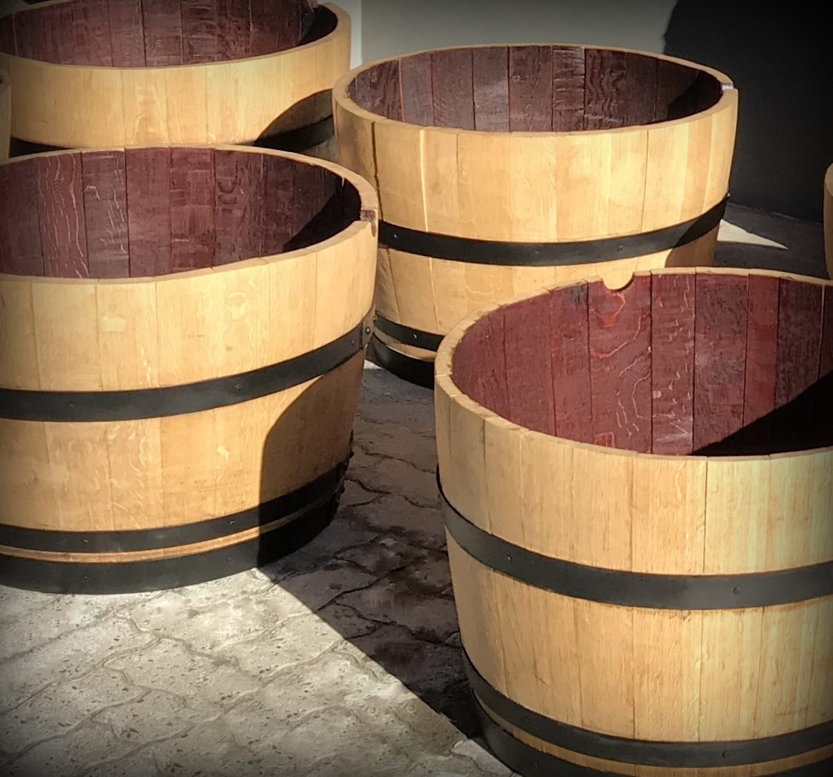 Light Oak refurbished Wine Barrels
