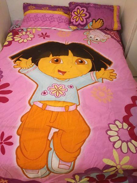 Dora duvet set with curtains