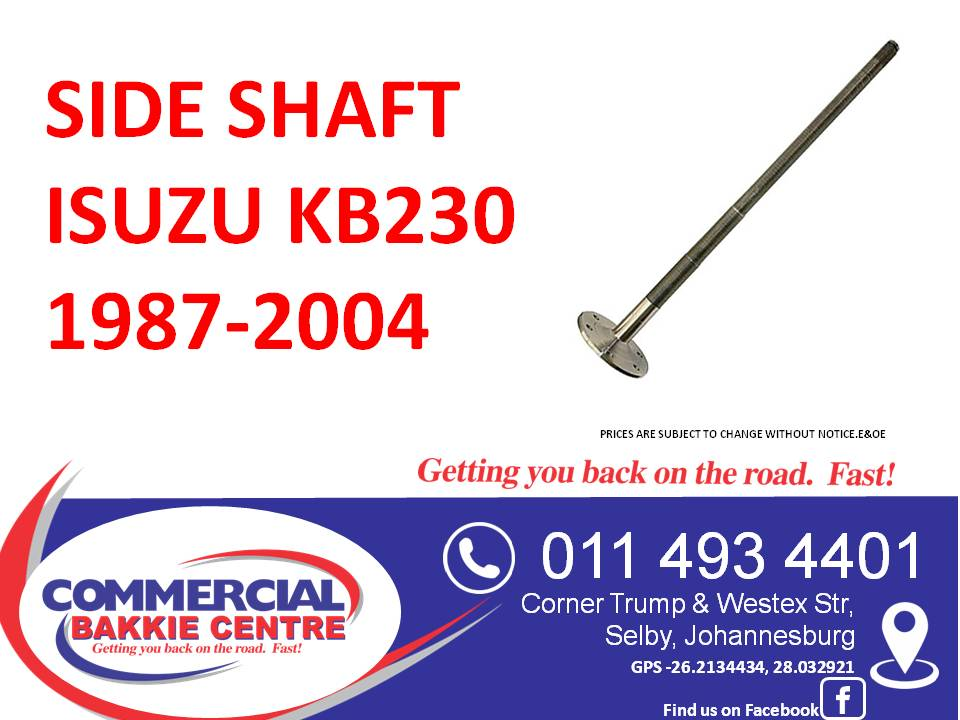side shaft isuzu kb230 1987-2004