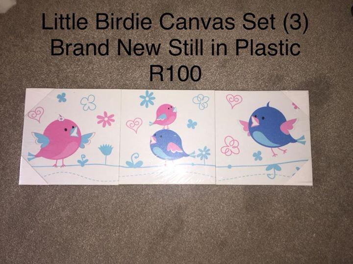Little birdie canvas set