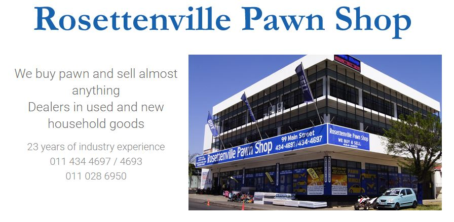 Find Rosettenville Pawn Shop's adverts listed on Junk Mail