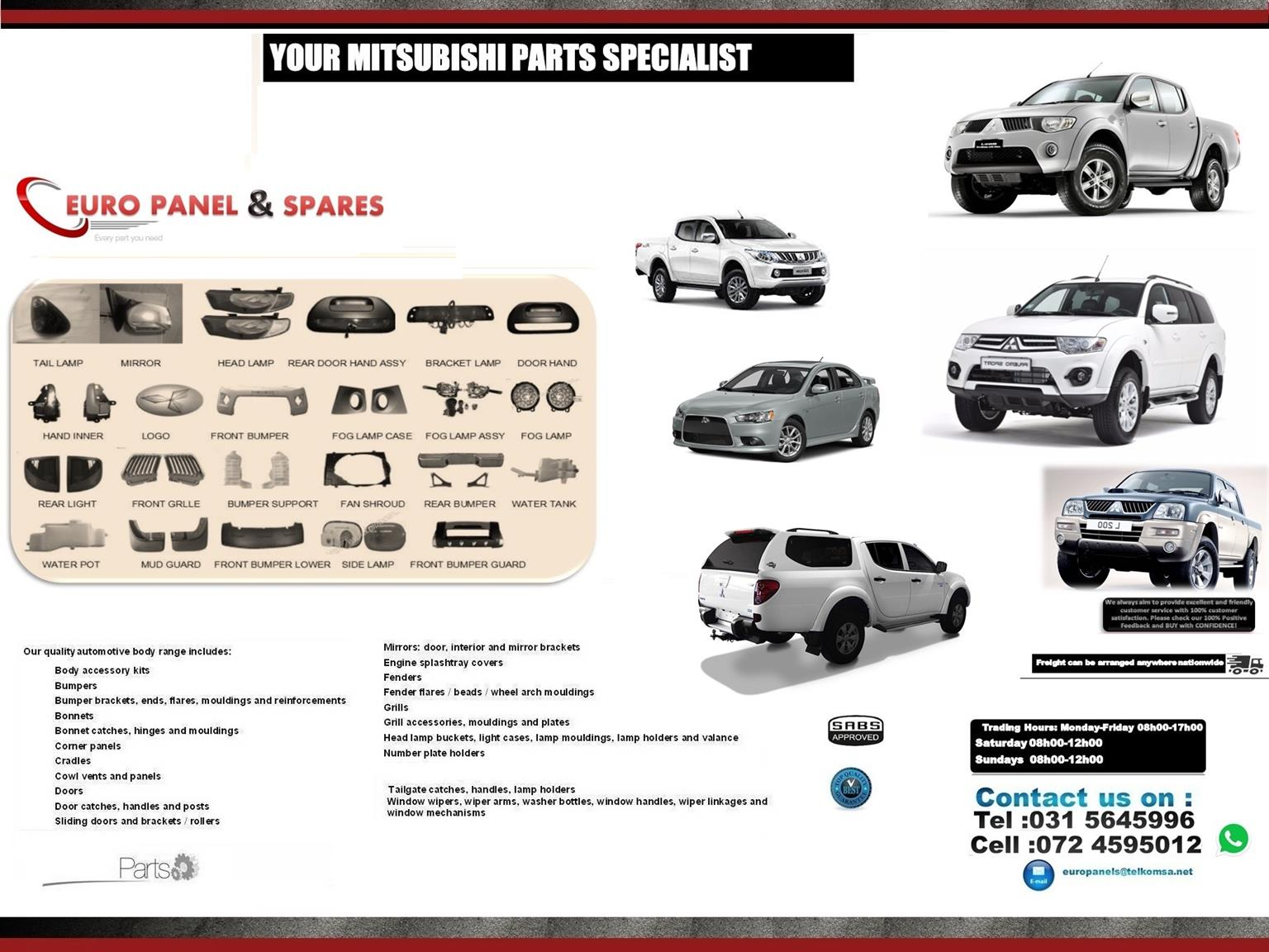 Specialising In Mitsubishi Automotive New Parts Body Parts