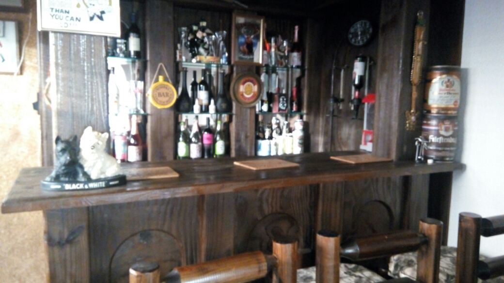 Completed solid wooden Bar