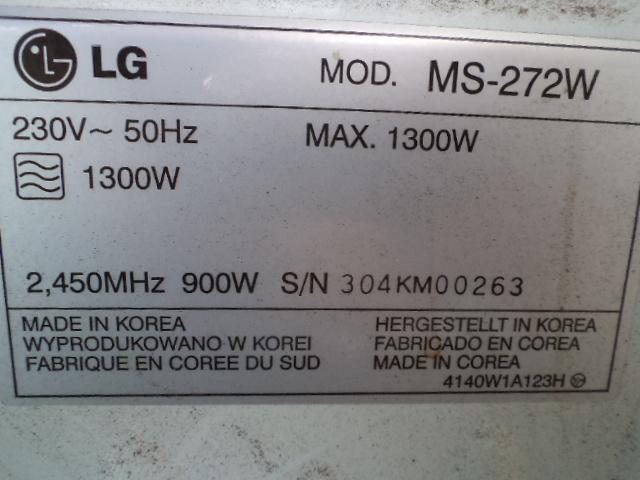 L,G. 24 litre microwave