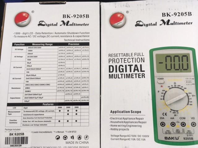 Big Digital Multimeter - New