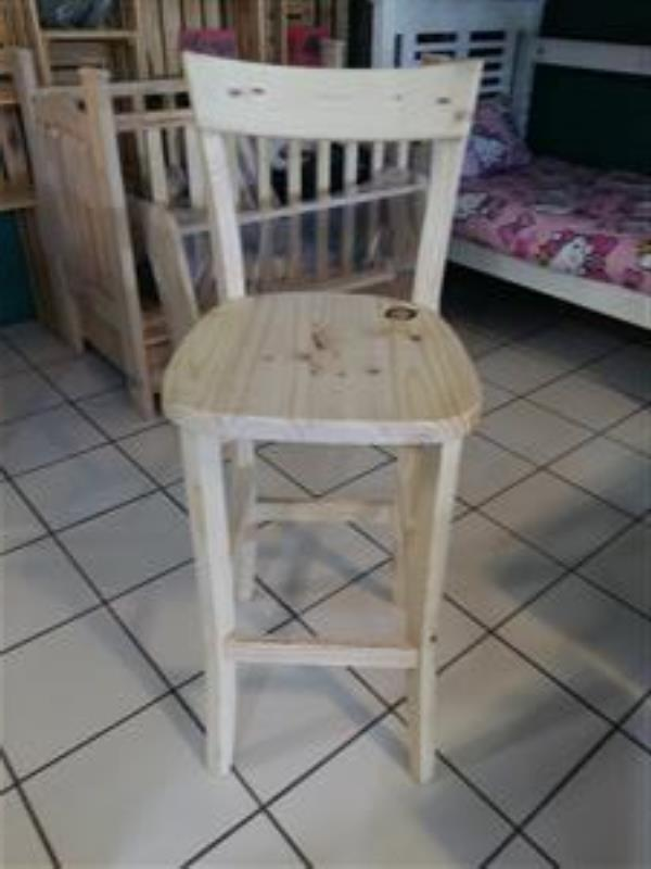650 mm High Pine Cafe Chairs
