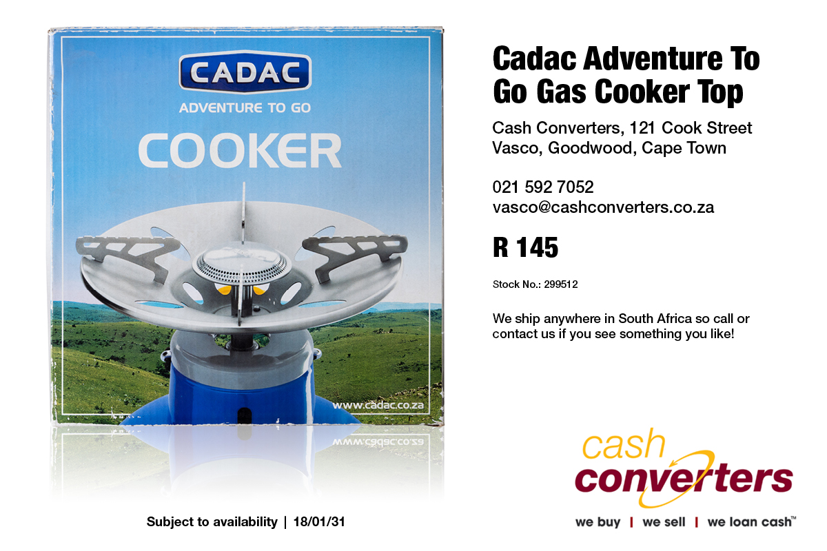 Cadac Adventure To Go.Cadac Adventure To Go Gas Cooker Top Junk Mail