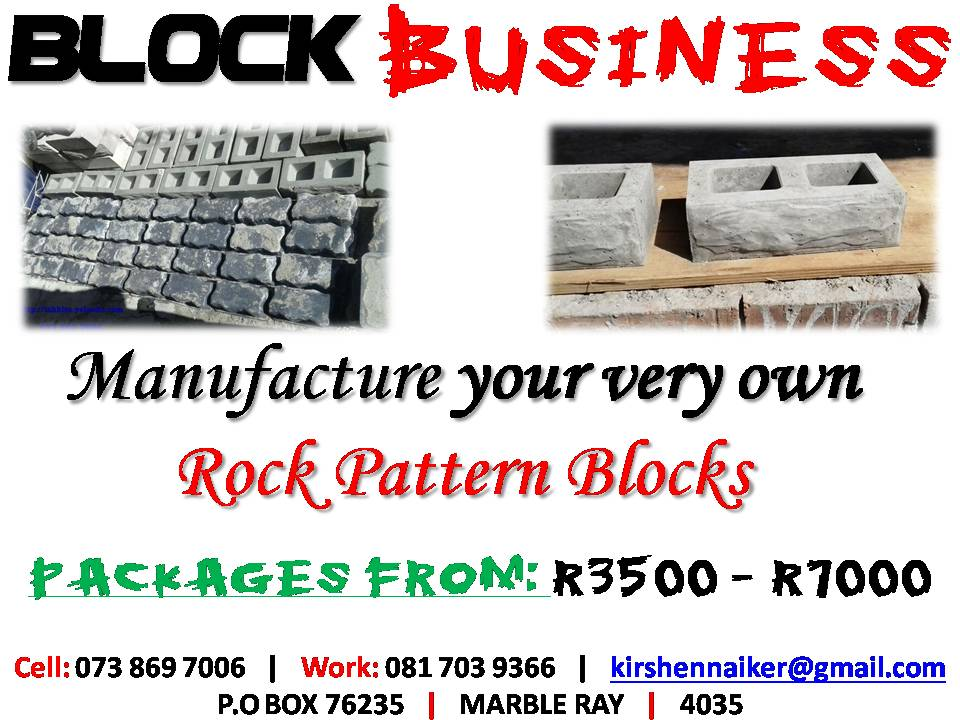 BLOCK Manufacturing BUSINESS!! BE YOUR OWN BOSS