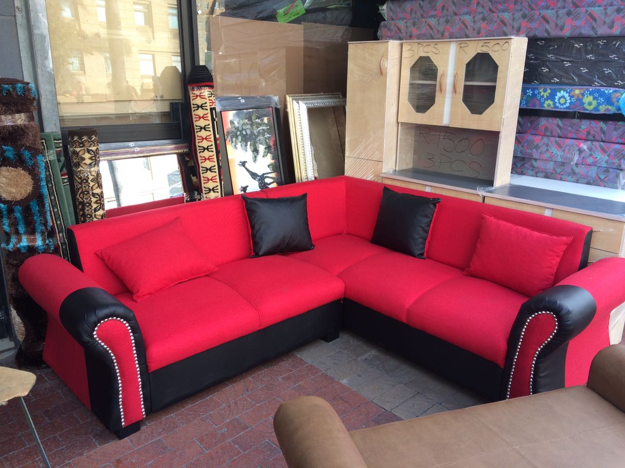 new black and red couch