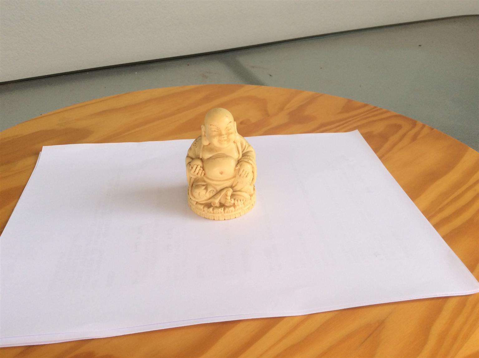 Vintage alabaster Buddha - full of detail