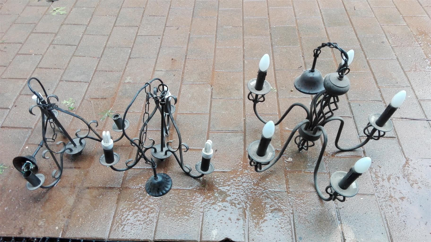 cast iron chandeliers