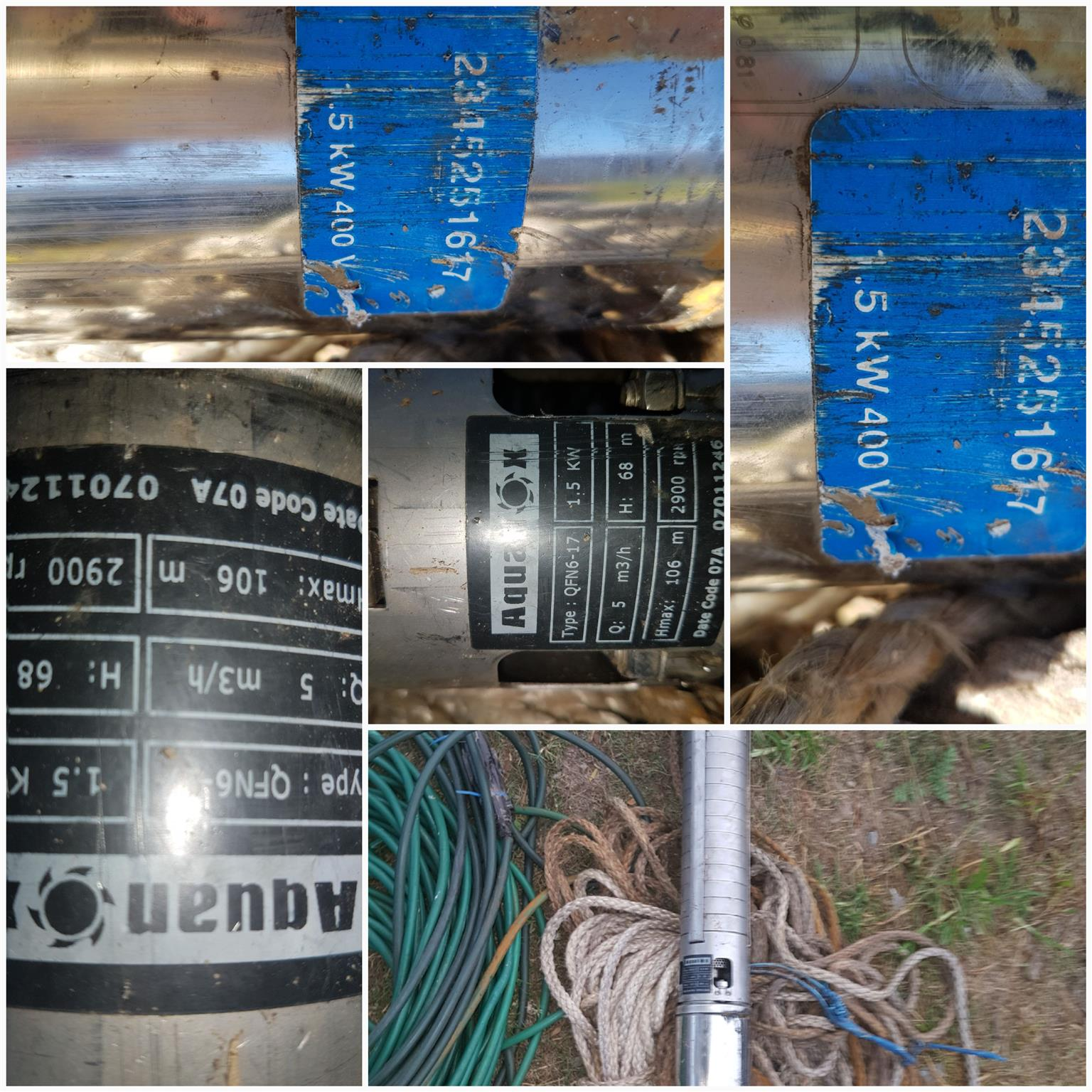 BOREHOLE PUMP, PIPE, ELECTRICAL FOR SALE