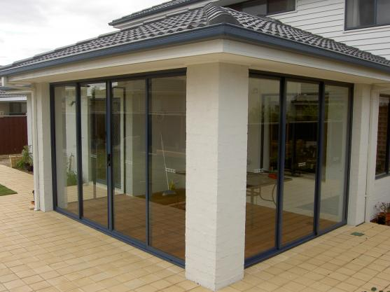 Aluminium doors, windows and shower doors.