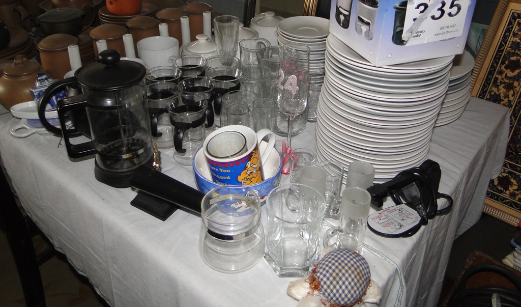 Assorted Crockery & Glassware for-sale - Negotiable