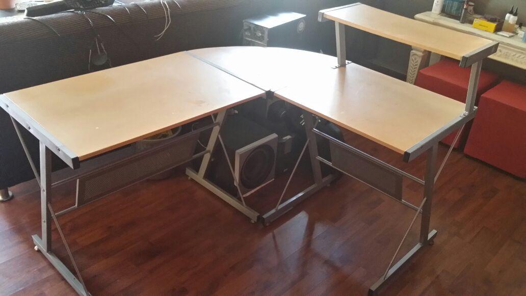 Corner Wood Desk