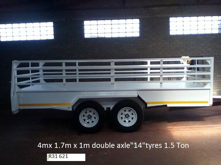 4m Utility trailer with brake system