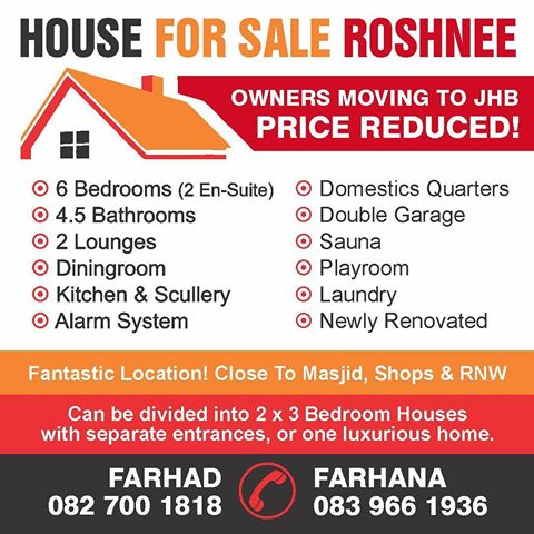 Luxury House for sale in sought after suburb of Roshnee, Vereeniging