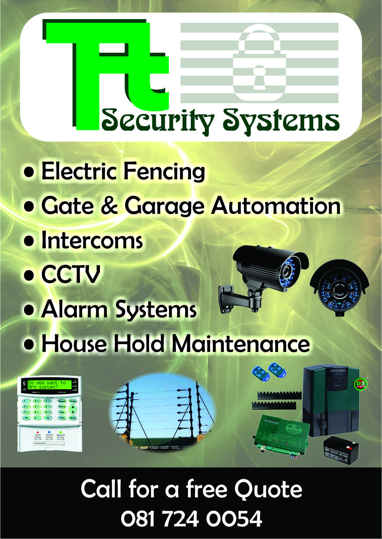 alarm systems/electric fencing