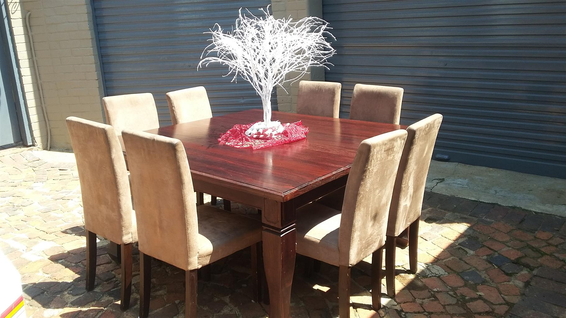 8 Seater Meranti Dining Room Table