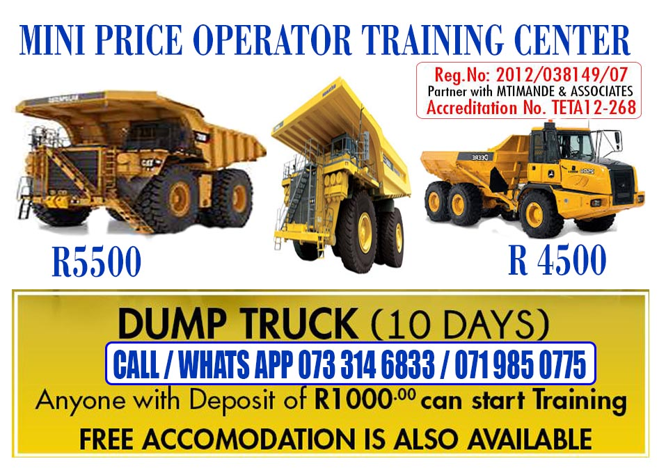 UV,Front end loader classes theory & practicals LHD scoop + Drill rig training. klerksdorp