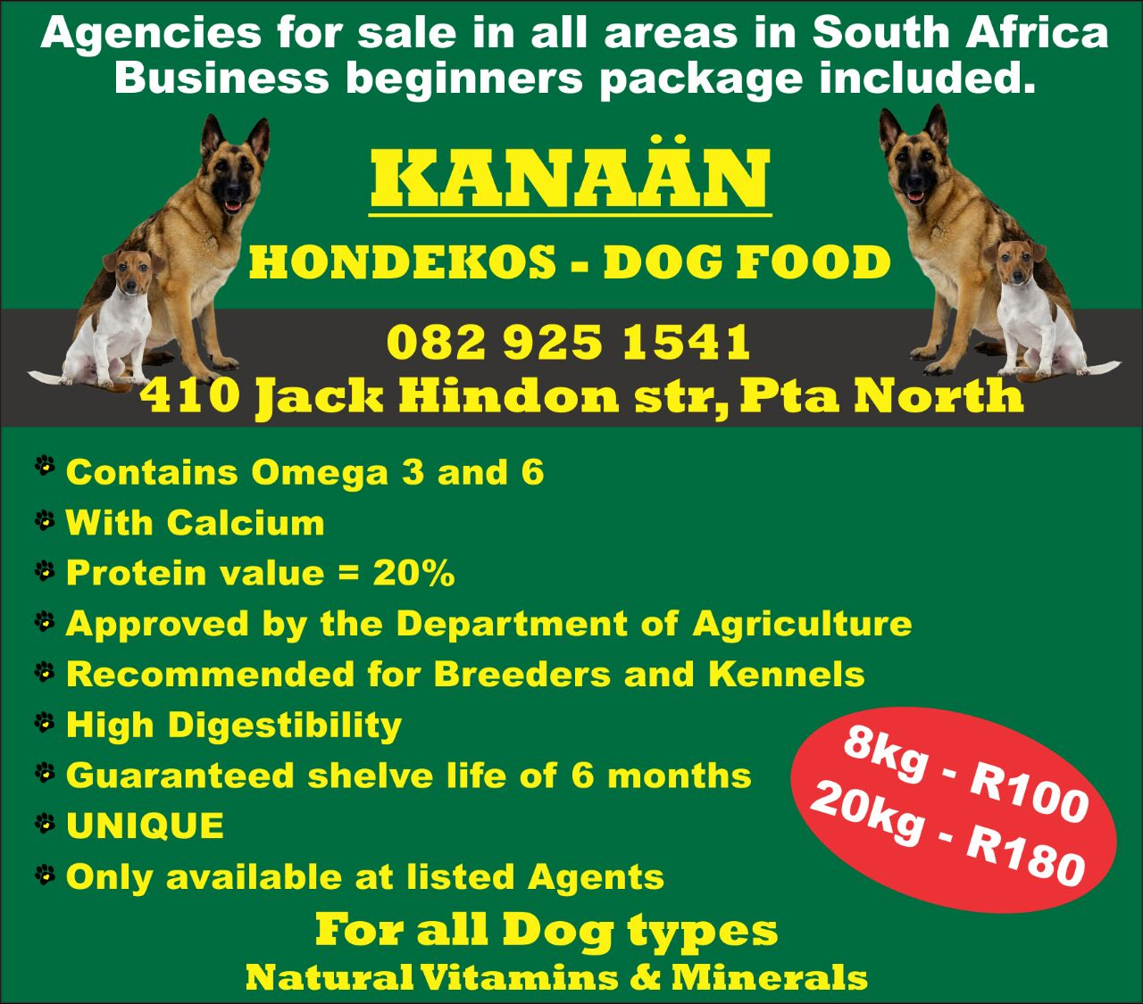 kanaan dog food for sale