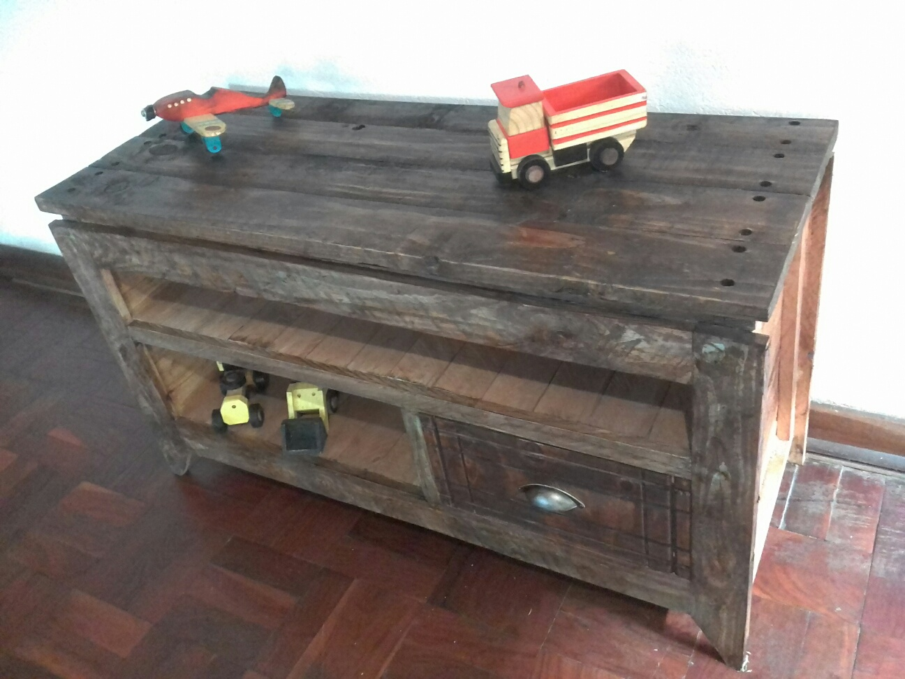 TV unit - Reclaimed wood