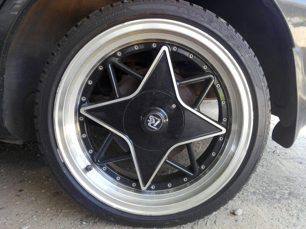 "17 "" Mag rims and tyres"
