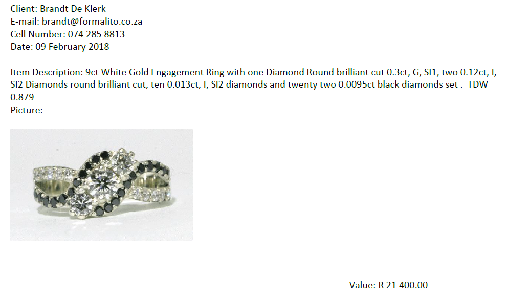 Used, Wedding Ring for sale  Centurion