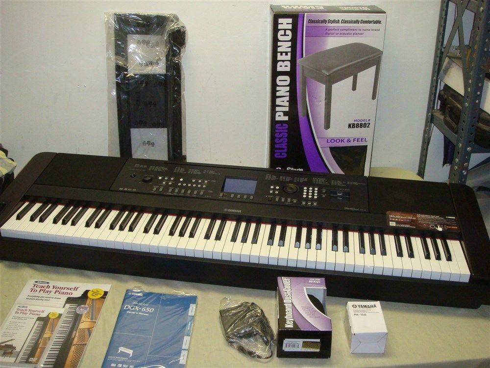 YAMAHA DGX-650B 88-WEIGHTED KEY DIGITAL PIANO