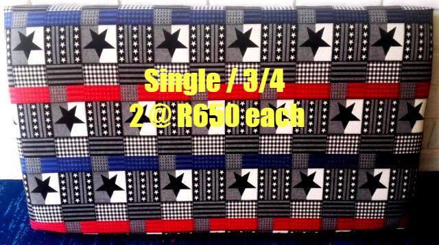 Star themed single and 3/4 headboard