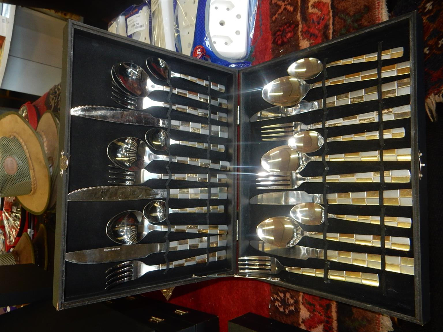 8x 24pc. Stainless Steel Cutlery Set