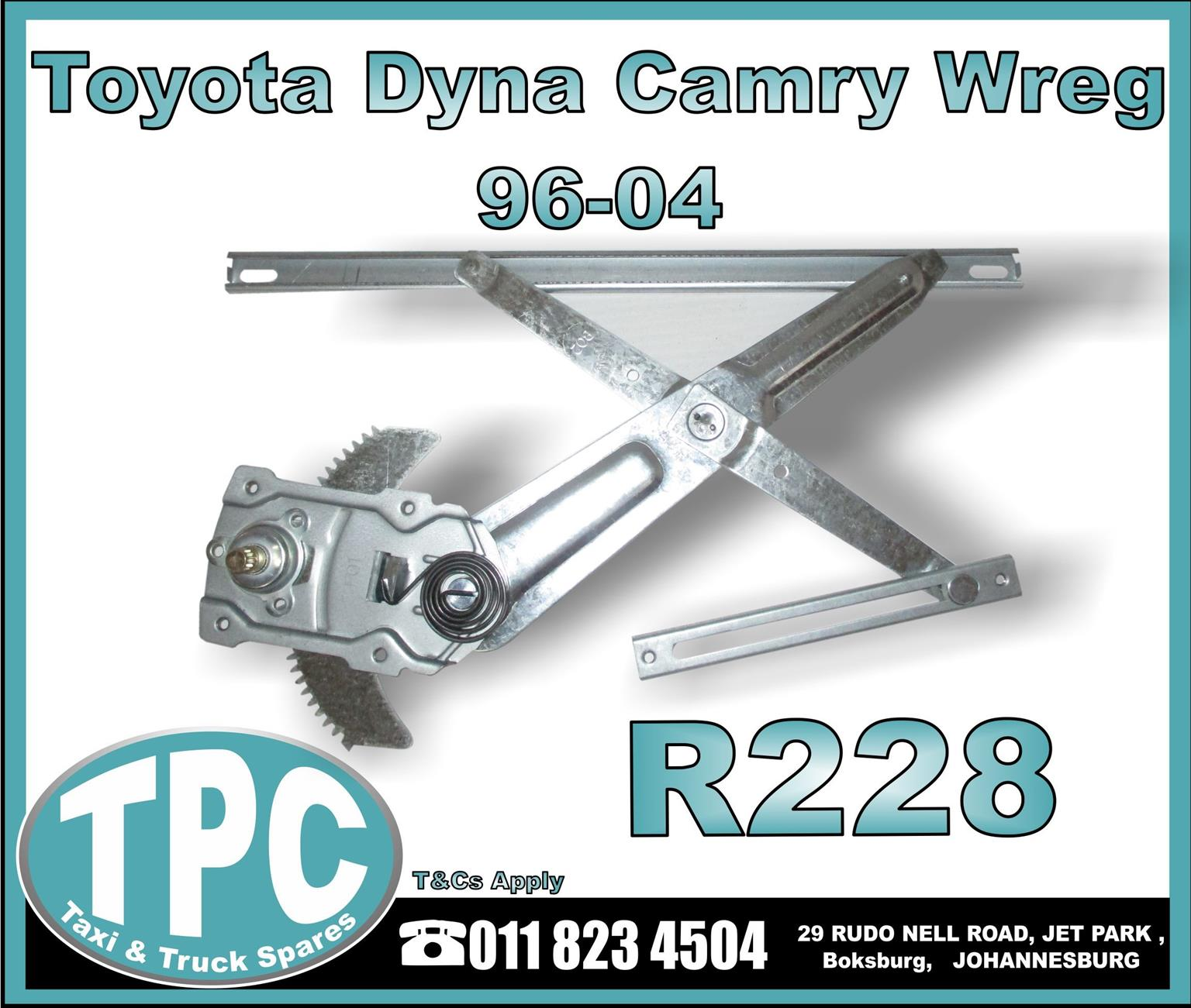 Toyota Dyna Camry Wreg - 96-04 - New Replacement Truck Body Parts- TPC.