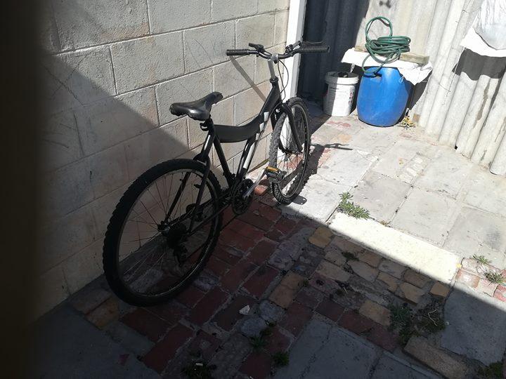 Matt black bike