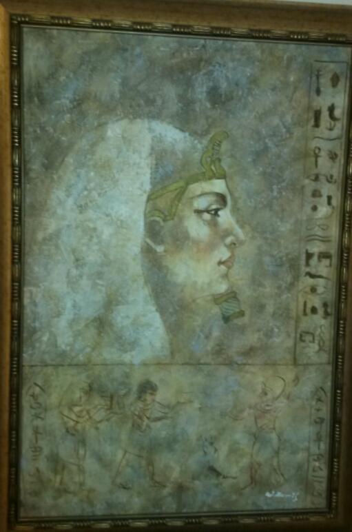 W.Harris Egyptian Oil Paintings Set