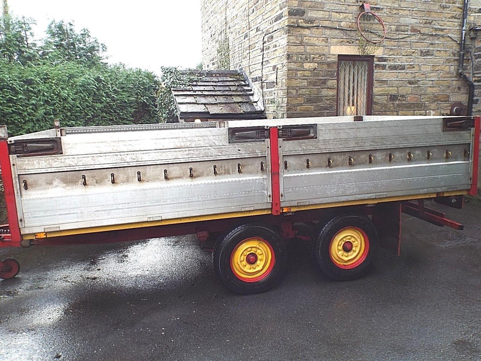 heavy duty flat bed trailer
