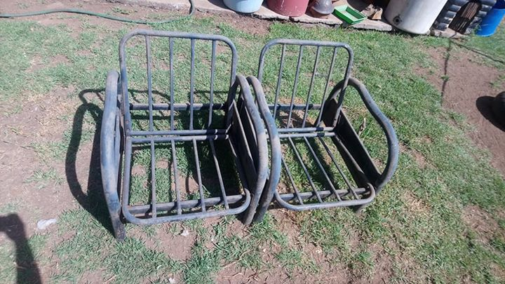 2 Steel garden chairs for sale