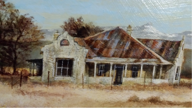 Freestate Farmhouse Clarens District Excellent painting.